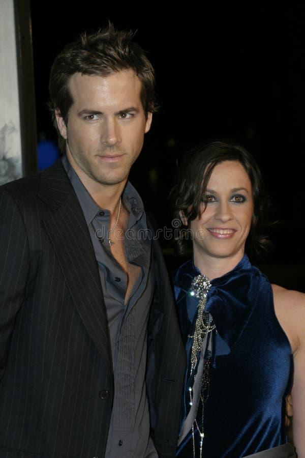 Ryan Reynolds and Alanis Morissette stock image
