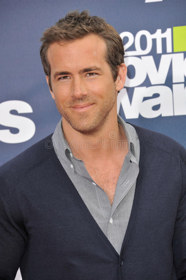 Ryan Reynolds. Arrives at the 2011 MTV Movie Awards at the Gibson Amphitheatre, Universal Studios, Hollywood. June 5, 2011 Los Angeles, CA Picture: Paul Smith royalty free stock images