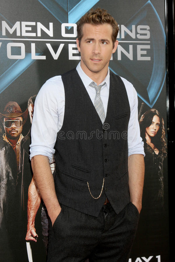 Ryan Reynolds. Arrivng at the 'X-Men Origins: Wolverine' screening at Grauman's Chinese Theater in Los Angeles, CA on April 28, 2009 stock photography