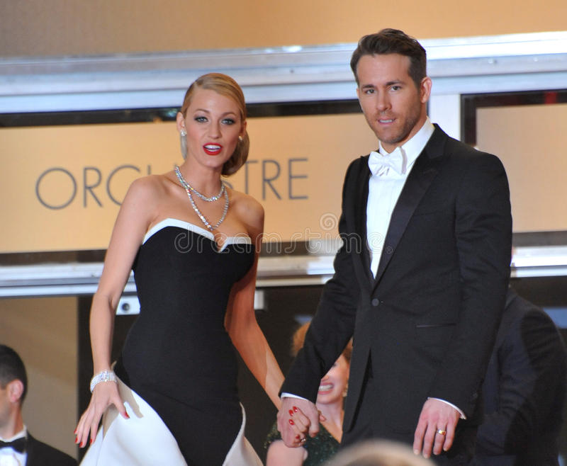 Ryan Reynolds & Blake Lively. CANNES, FRANCE - MAY 16, 2014: Ryan Reynolds stock images