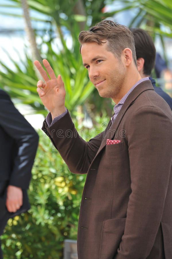 Ryan Reynolds. CANNES, FRANCE - MAY 16, 2014: Ryan Reynolds at the photocall for his movie Captives at the 67th Festival de Cannes royalty free stock photo