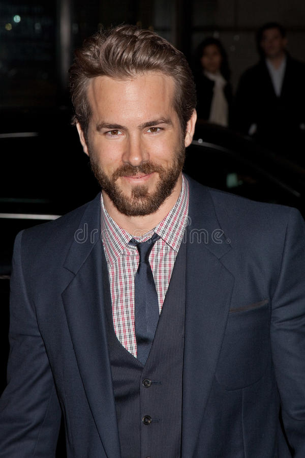 Ryan Reynolds. NEW YORK - NOVEMBER 30: Actor Ryan Reynolds attends IFP's 19th Annual Gotham Independent Film Awards at Cipriani, Wall Street on November 30, 2009 royalty free stock photos