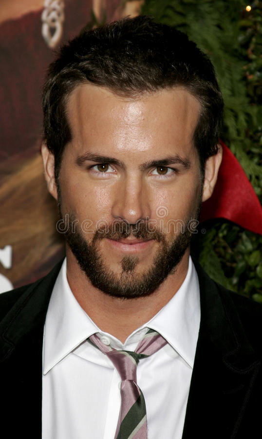 Ryan Reynolds. WESTWOOD, CALIFORNIA. November 14, 2005. Ryan Reynolds at the `Just Friends` Premiere at the Mann Village Theatre in Westwood, California United royalty free stock photography