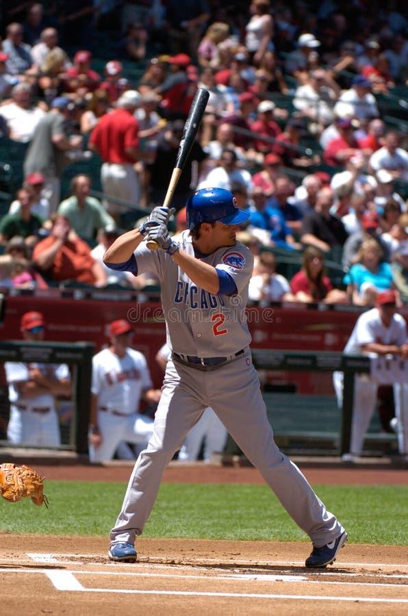 Ryan Theriot Chicago Cubsinnerfältspelare royaltyfri bild