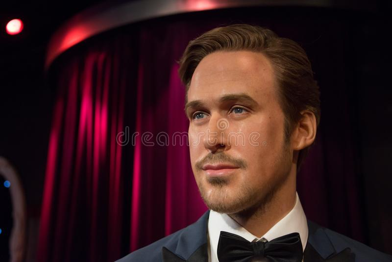 Ryan Thomas Gosling dans le musée de Madame Tussauds image stock