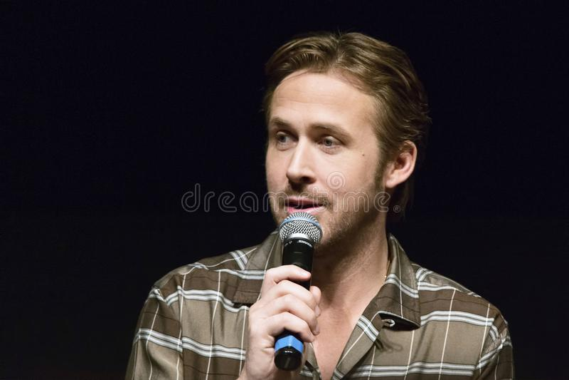 Ryan Thomas Gosling kanadensisk skådespelare royaltyfria foton