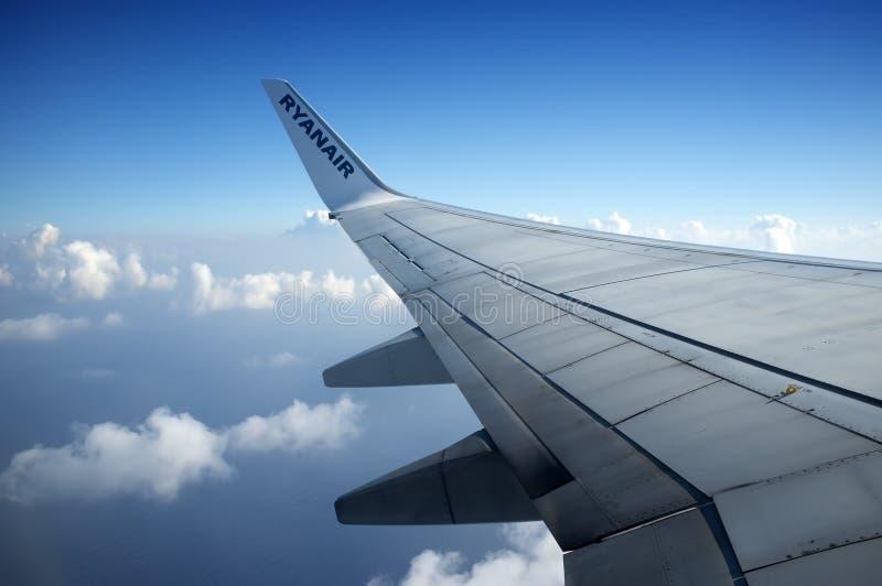 Ryanair Aircraft - wing royalty free stock photos