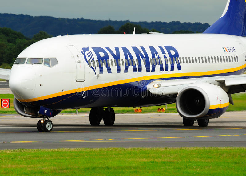 Ryanair Boeing 737 Commercial Airliner stock images