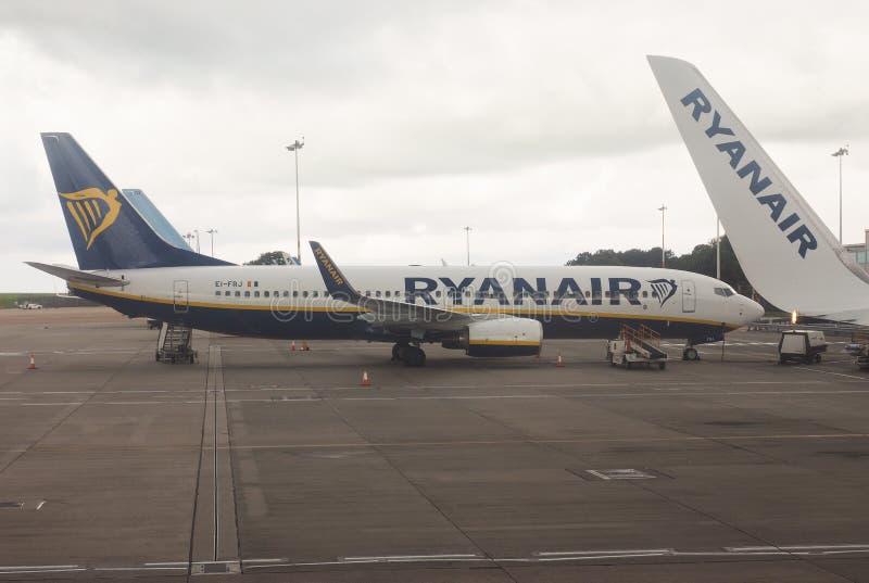 RyanAir Boeing 737-800 parked in Bristol stock images