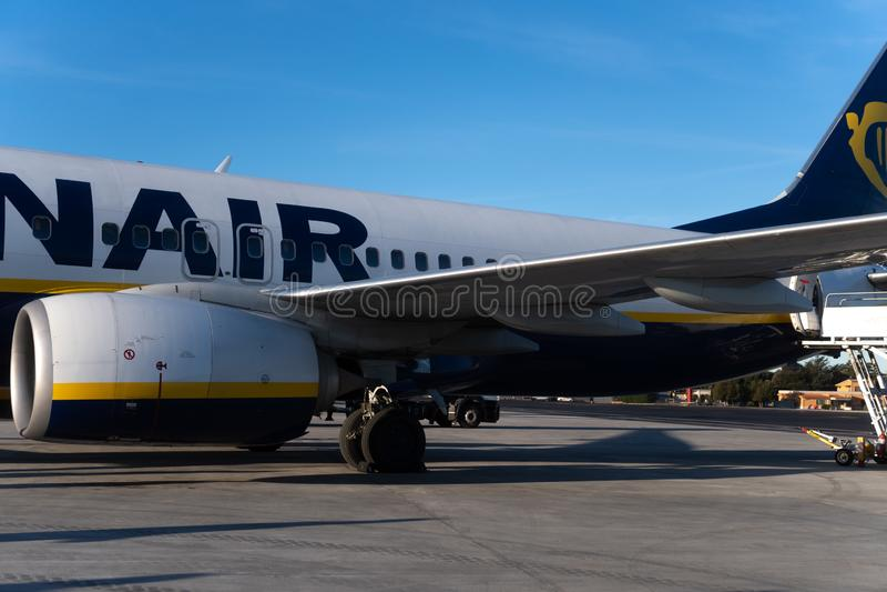 Ryanair flight royalty free stock photography
