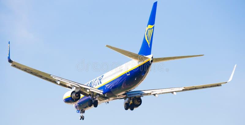 Ryanair linii lotniczych płaski lądowanie obrazy royalty free