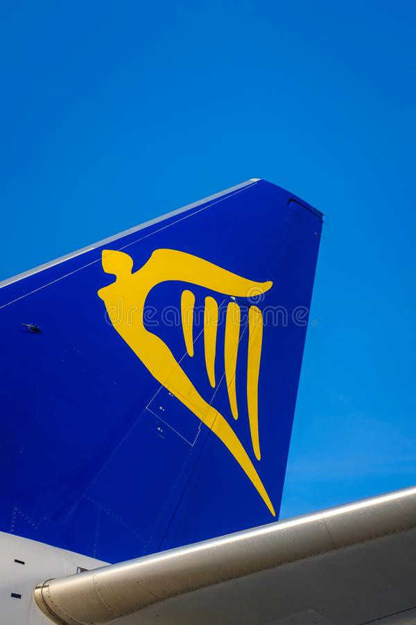 Ryanair Boeing 737 tail fin royalty free stock images