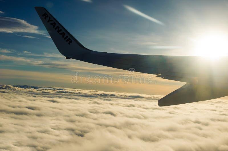 Ryanair plane royalty free stock photos