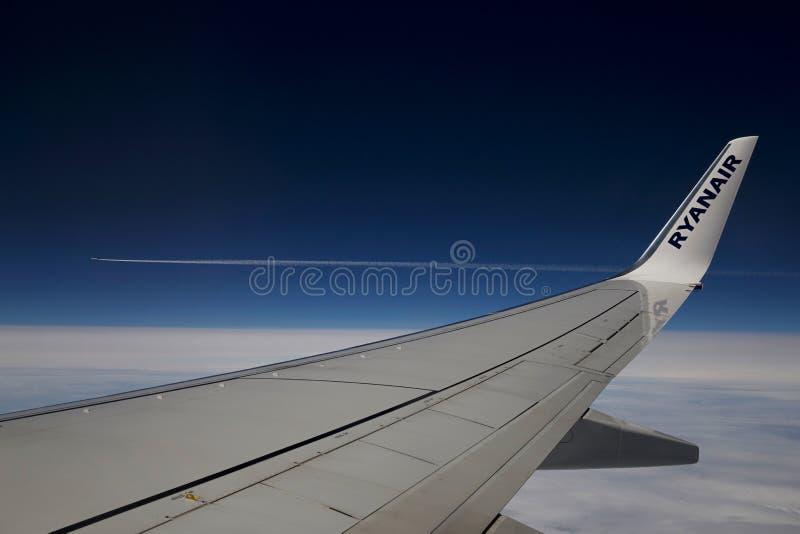 Ryanair voa fotografia de stock