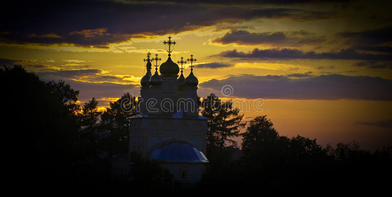 Ryazan church stock photo