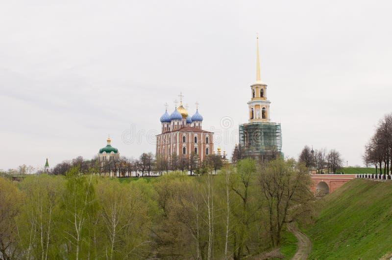 Ryazan het Kremlin. stock afbeeldingen