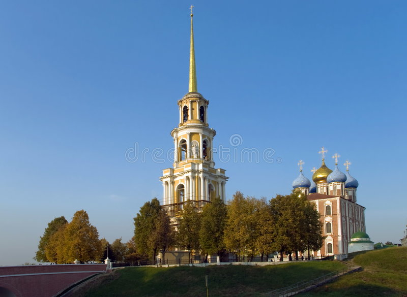 The Ryazan Kremlin. Russia. The city of Ryazan. The Kremlin. Autumn stock image
