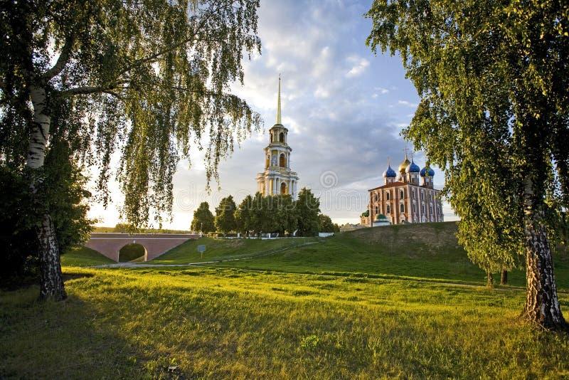 The Ryazan Kremlin stock image