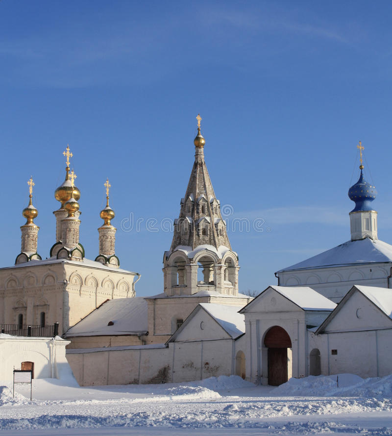 Ryazan Kremlin towers. Ryazan Kremlin - one of the most beautiful monuments in Central Russia royalty free stock images