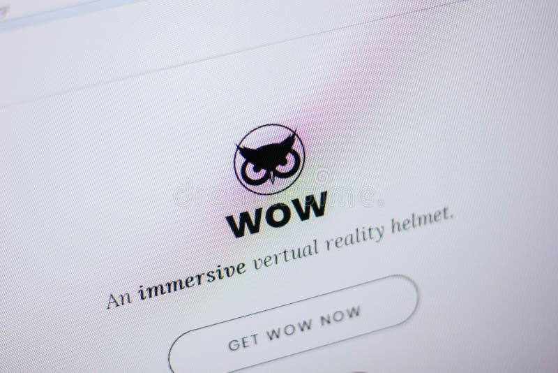 Ryazan Rosja, Czerwiec, - 05, 2018: Homepage WowReality strona internetowa na pokazie pecet, url - WowReality info obraz stock