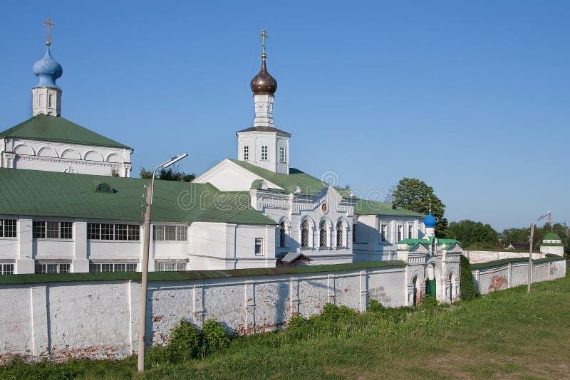 Ryazan, Rusland Meningen van het wit-stenen Kremlin op de achtergrond van heldere blauwe hemel royalty-vrije stock fotografie