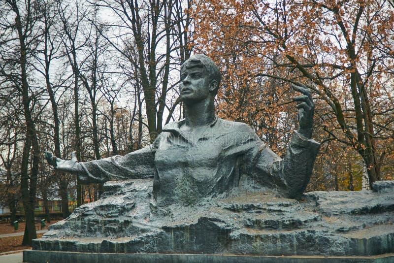 Ryazan, Rusland - November 05, 2017: Monument aan Sergei Yesenin royalty-vrije stock afbeeldingen