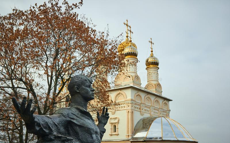 Ryazan, Rusland - November 05, 2017: Monument aan Sergei Yesenin o royalty-vrije stock afbeelding