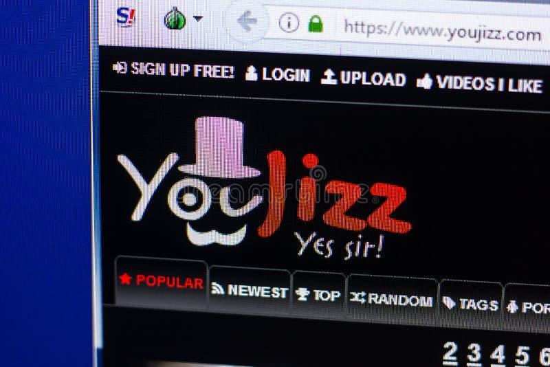 Ryazan, Russia - April 29, 2018: Homepage Of Youjizz