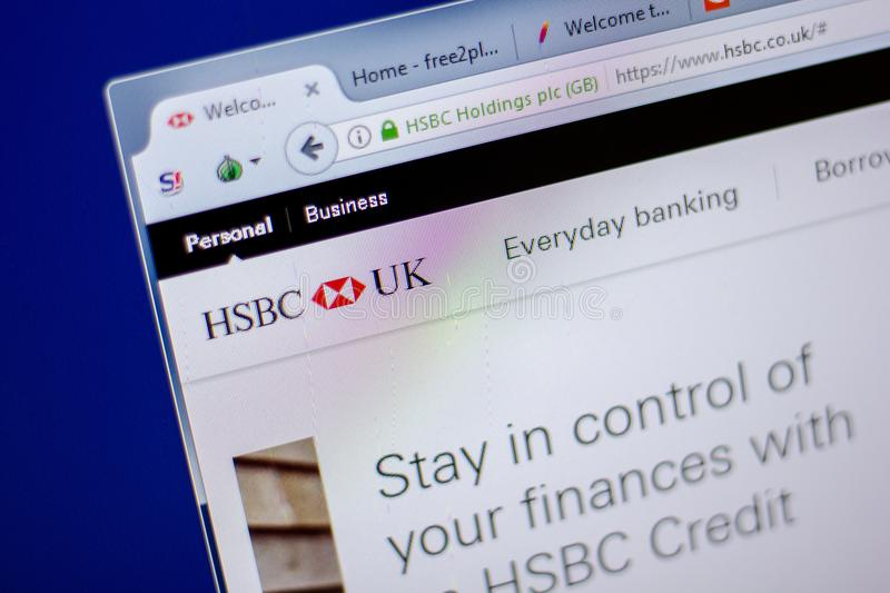 HSBC Internet Banking Terminal Inside Branch Editorial Photo