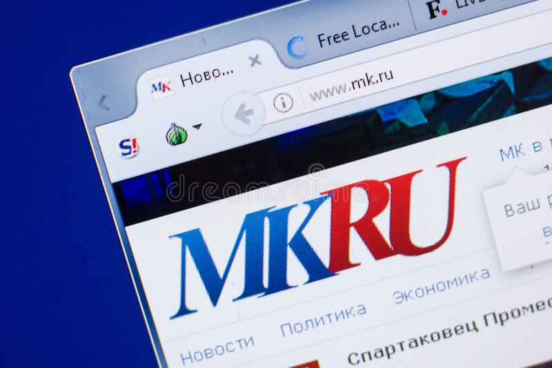 Ryazan, Russia - May 13, 2018: Mk website on the display of PC, url - Mk.ru. Ryazan, Russia - May 13, 2018: Mk website on the display of PC, url - Mk.ru stock photography