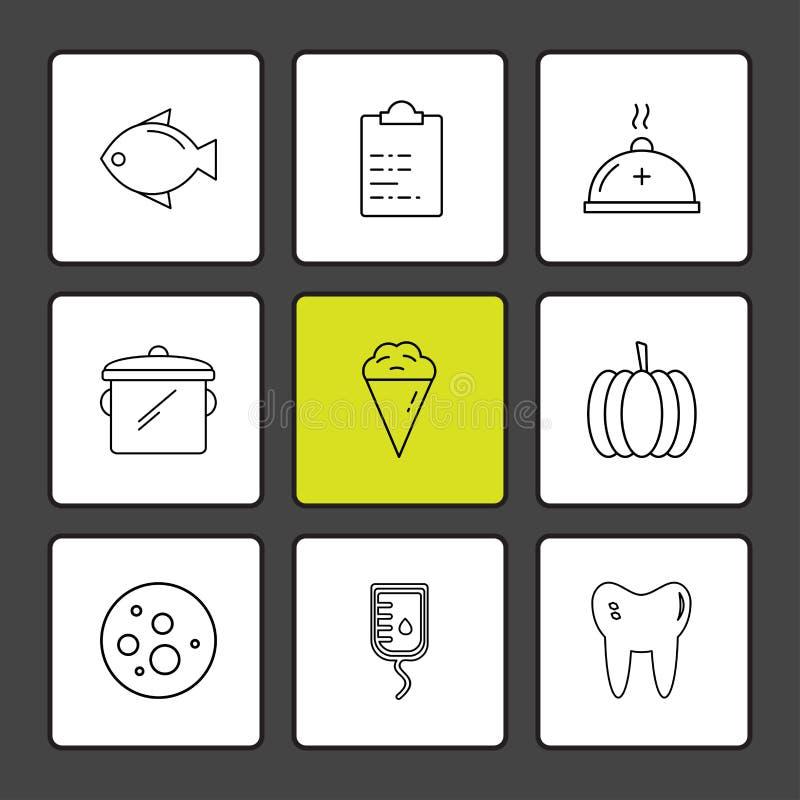 ryba, capsicum, zęby, księżyc, rożek, owoc, zdrowie, sprawność fizyczna royalty ilustracja