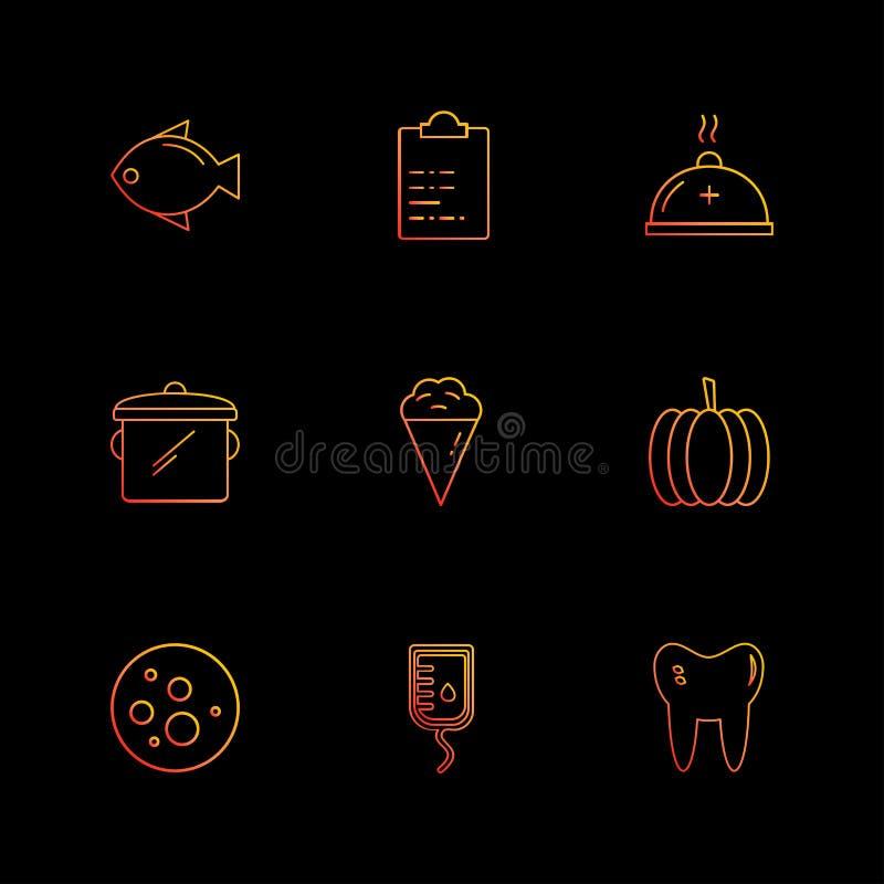 ryba, capsicum, zęby, księżyc, rożek, owoc, zdrowie, sprawność fizyczna ilustracji
