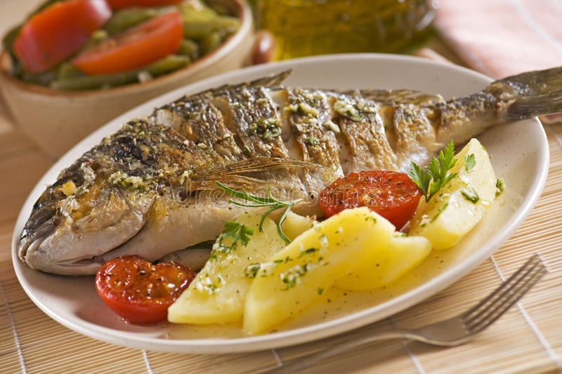 ryba piec zdjęcie stock