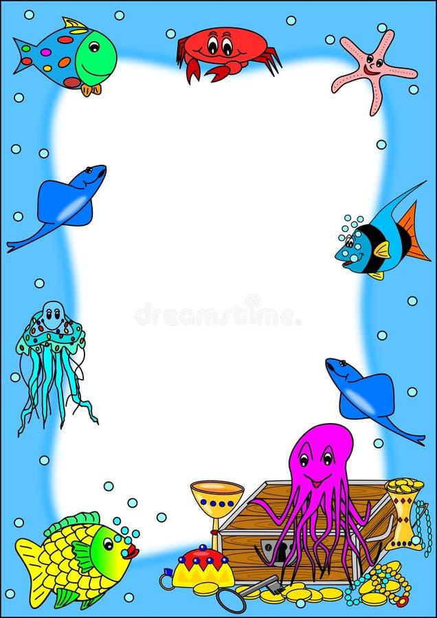 Download Ryba ramy pirata skarb ilustracja wektor. Ilustracja złożonej z ruch - 13334089