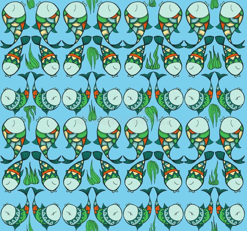 Ryba w miłość wzorze ilustracja wektor