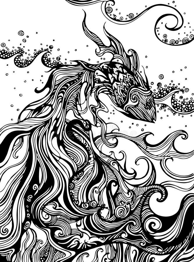 Ryba w ocean ilustraci obrazy royalty free
