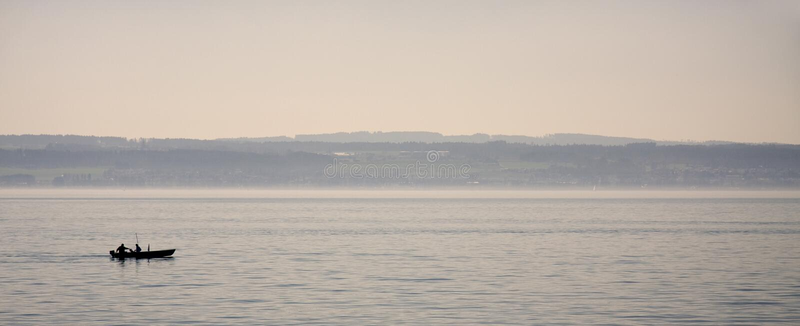 Rybacy na Jeziornym Constance obrazy royalty free