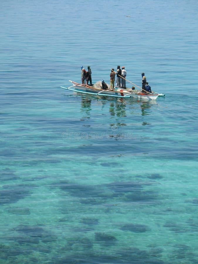 rybacy Philippines zdjęcie royalty free