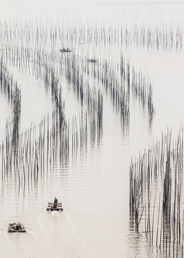 Rybacy przy morzem zdjęcie royalty free