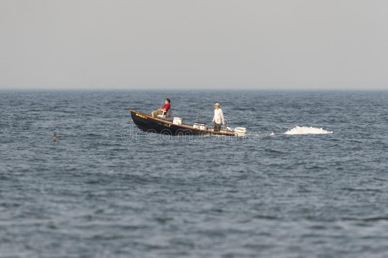 Rybacy rusza się nowy punkt z Agrestowej szyi zdjęcie stock