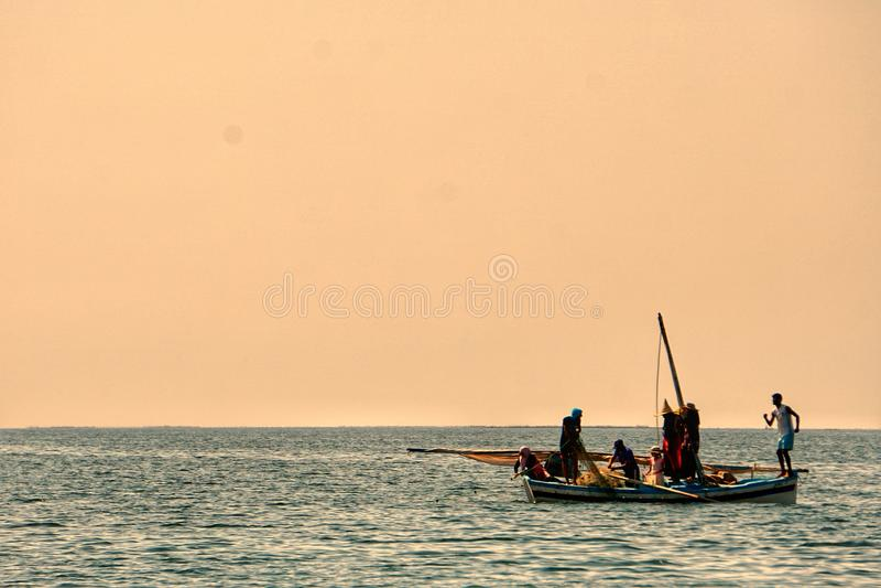 Rybacy w karkennah fotografia stock