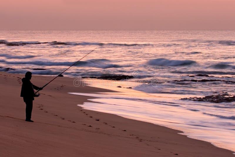 rybacy wschód słońca zdjęcia stock