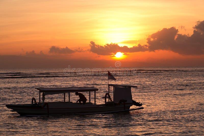 rybacy wschód słońca obraz stock