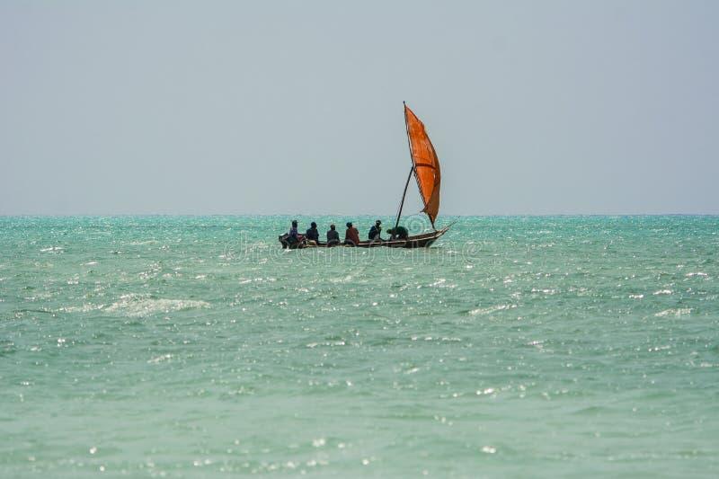 Rybaków iść łowić zanzibar Tanzania fotografia royalty free