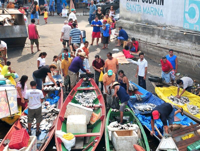rybaków Manaus rynek fotografia stock