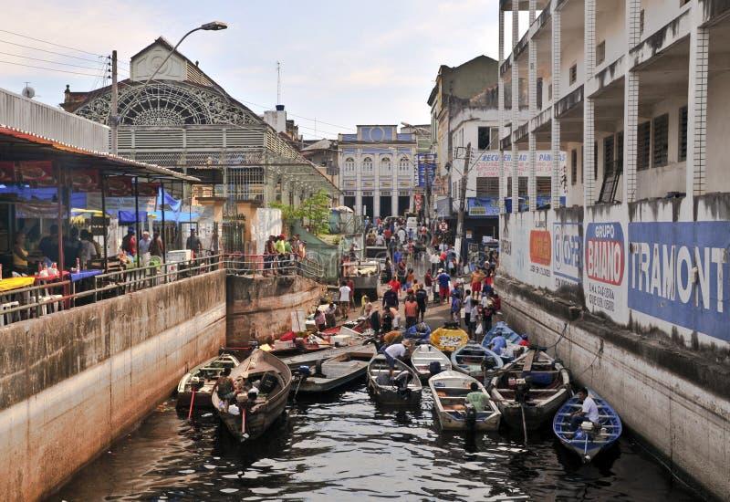 rybaków Manaus targowy stary obrazy stock