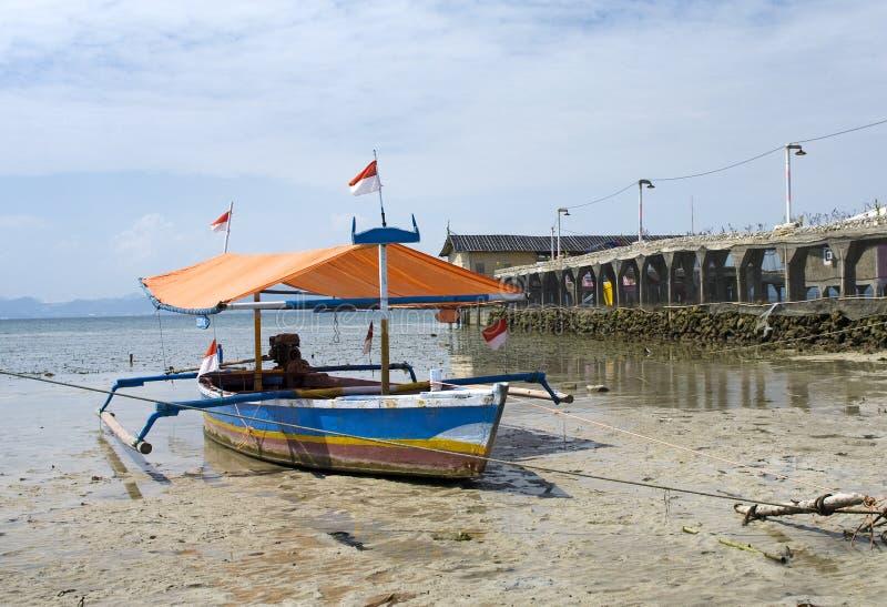 Rybak łódź, Sumatra, Indonezja zdjęcia royalty free