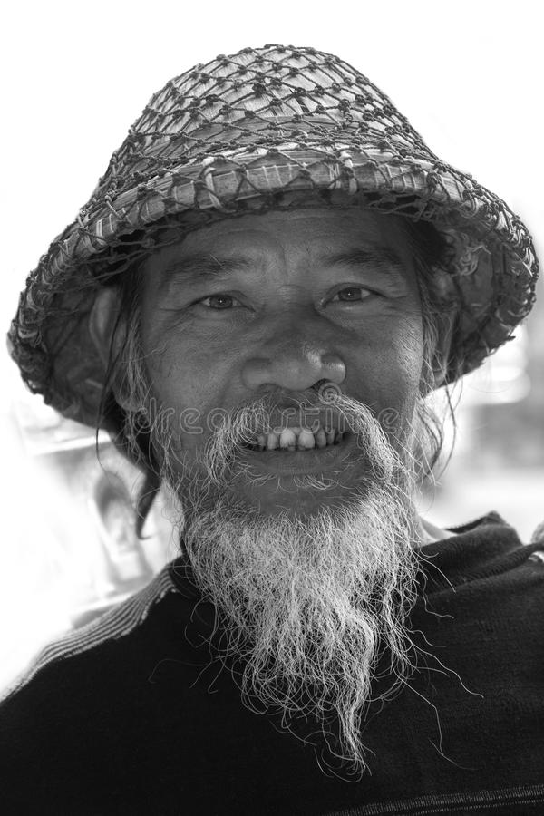 Birmański rybak - Myanmar obraz stock
