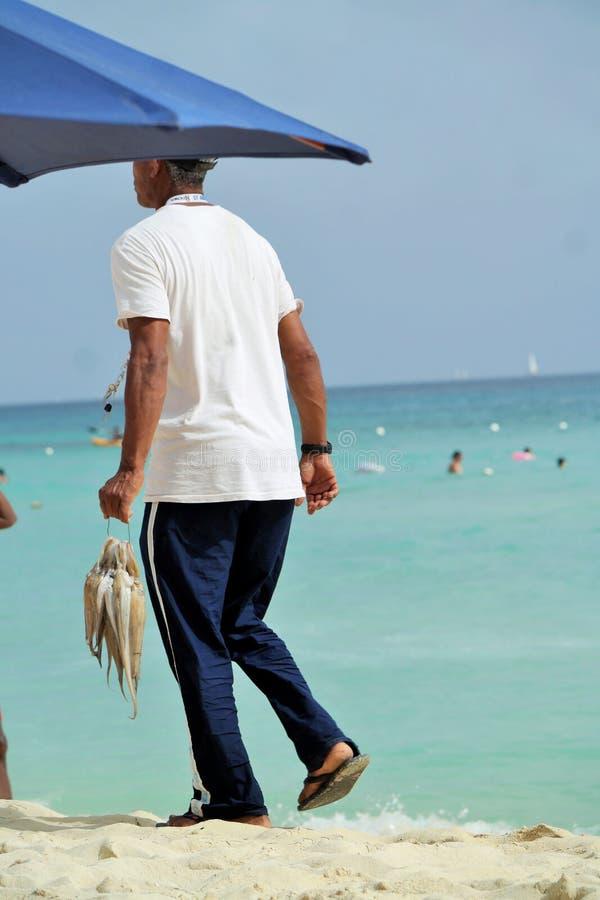rybak w republice dominikańskiej fotografia stock