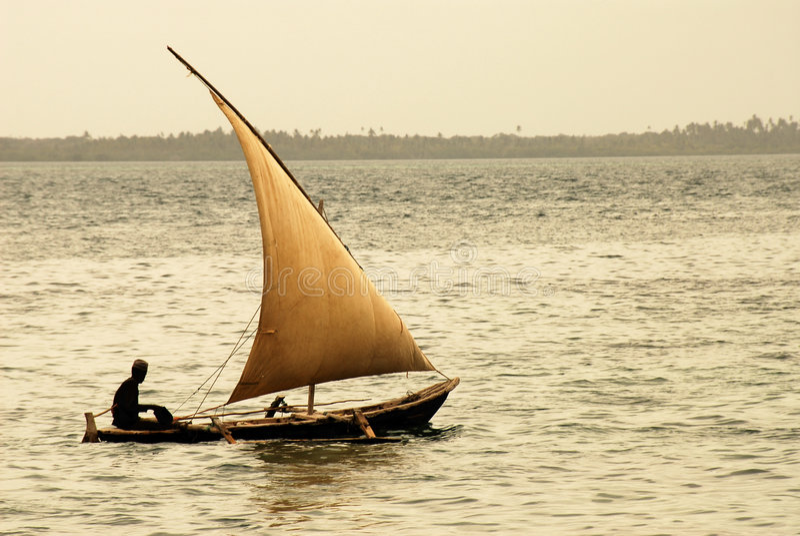 rybak wyspa Zanzibaru obrazy stock
